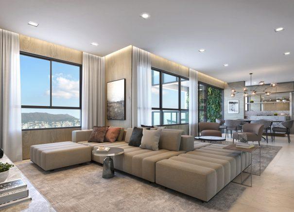 Apartamento 3 quartos - Sala ampliada